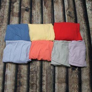 Set Of 7 Denver Hayes Basic Tee Shirts XL